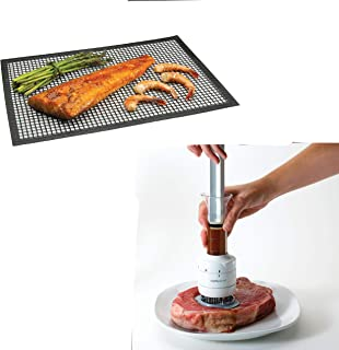 Chef's Planet Stainless Steel and White Flavor Enhancer AND BBQ Mat