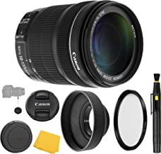 Canon EF-S 18-135mm f/3.5-5.6 IS STM Lens + UV Filter + Collapsible Rubber Lens Hood + Lens Cleaning Pen + Lens Cap Keeper + Cleaning Cloth - 18-135mm STM: International Version (No Warranty)
