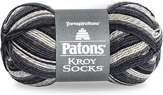 Patons Kroy Socks Yarn - (1) Super Fine Gauge - 1.75 oz - Eclipse - For Crochet, Knitting & Crafting