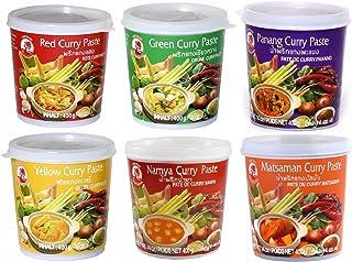 Cock Brand - juego de degustación Currypasten 6er Pack (6 x
