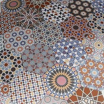 Orientalische Fliesen Habib aus Feinsteinzeug marokkanische Patchwork Fliese Neu