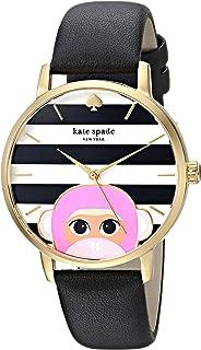 kate spade new york Women's KSW1259 Metro Analog Display Japanese Quartz Black Watch
