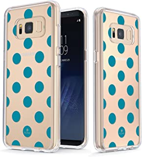 True Color Clear Shield Polka Dot Collection Teal Polka Dot For Samsung Galaxy S8