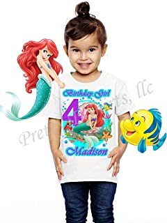 Ariel Birthday Shirt, Add Any Name and Age, Little Mermaid Birthday Party, Family Matching Shirts, Birthday Girl Shirts, Ariel Princess Birthday Shirt, Visit Our Shop