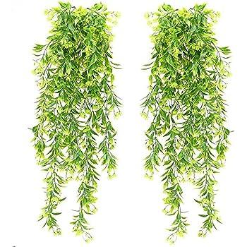 NAHUAA 4 Piezas Hiedra Artificial Plantas Artificiales Plantas Colgantes Exterior para Hogar Jardín Valla Boda Colgar Cestas Paredes Colgantes Decoración Interior: Amazon.es: Hogar