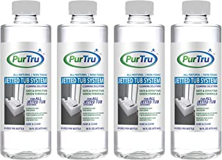 Jetted Tub and Plumbing System Cleaner (4 Pack) - All Natural and Safe Cleaner for Whirlpool, Jacuzzi, Kohler and All Jetted Tubs, Hot Tubs, Bath Tubs and Spa Tubs