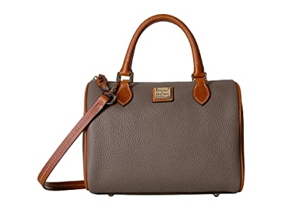 Dooney & Bourke Pebble Trudy Satchel (Elephant/Tan Trim) Handbags