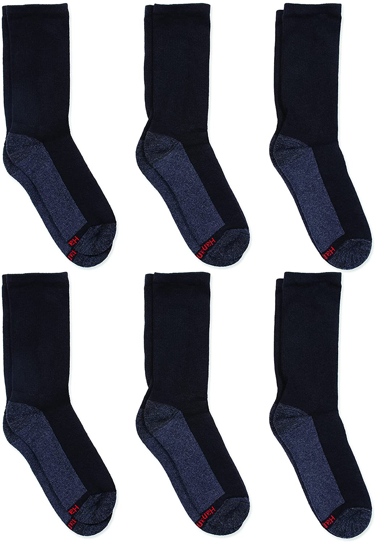 Hanes mens Big & Tall Comforttop Crew Socks, 6-pair Pack