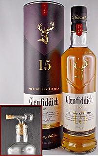 Flasche Glenfiddich Solera 15 Jahre Single Malt Whisky  Glaskugelportionierer
