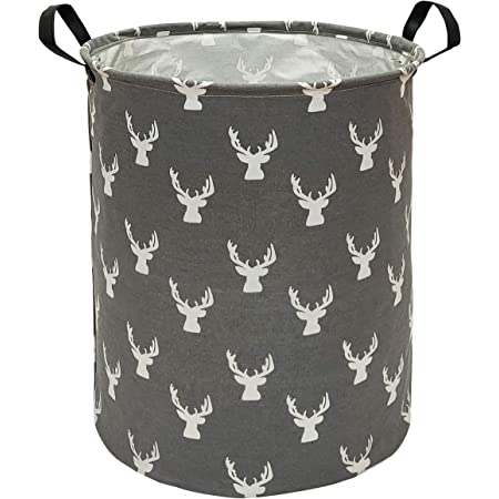 Rustic Feathered Deer Bin Kid/'s Personalized Bedroom Baby Nursery Organizer for Toys or Clothing FB0321