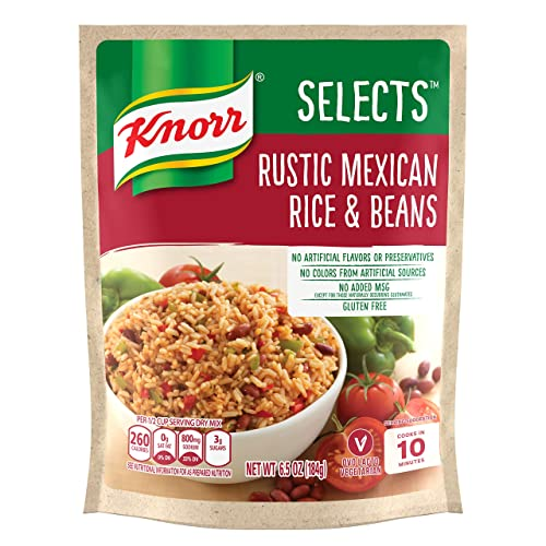 Knorr Selects Rice Side Dish, Rustic Mexican Rice & Beans, 6.5 oz