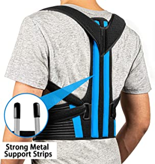 FEATOL Posture Corrector - Best Back Brace for Men & Women – Adjustable Support Brace for Pain Relief from Neck, Back & Shoulder,FDA Approved– Please Check Sizing Chart