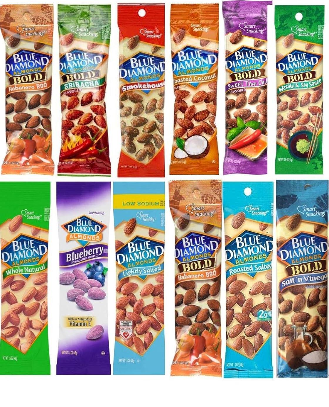 Blue Diamond Almonds 1.5 oz pouches 12 Flavor Variety Pack