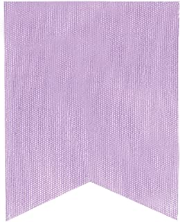 Darice Canvas Banner Flags in Fishtail Design, Lavender