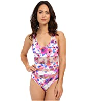 SAHA - Flora Mesh Cut One-Piece