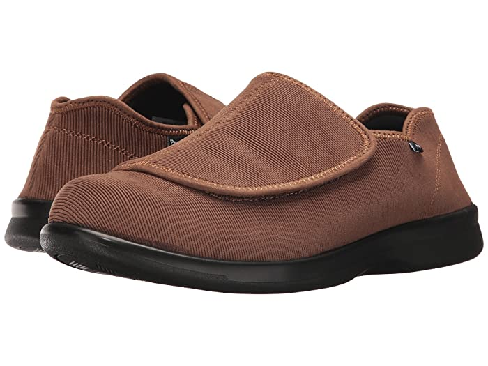 Propet Cush 'n Foot Medicare/HCPCS Code = A5500 Diabetic Shoe (Sand Corduroy) Men's Slip on  Shoes