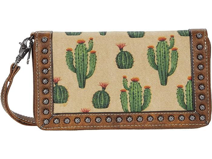 Blazin Roxx Desert Clutch Wallet in Cactus Print