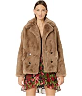 The Kooples - Faux Fur Jacket with Zippers