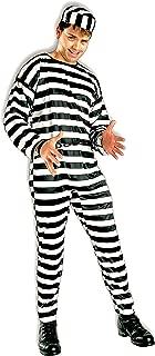 Men's Striped Prisoner Costume