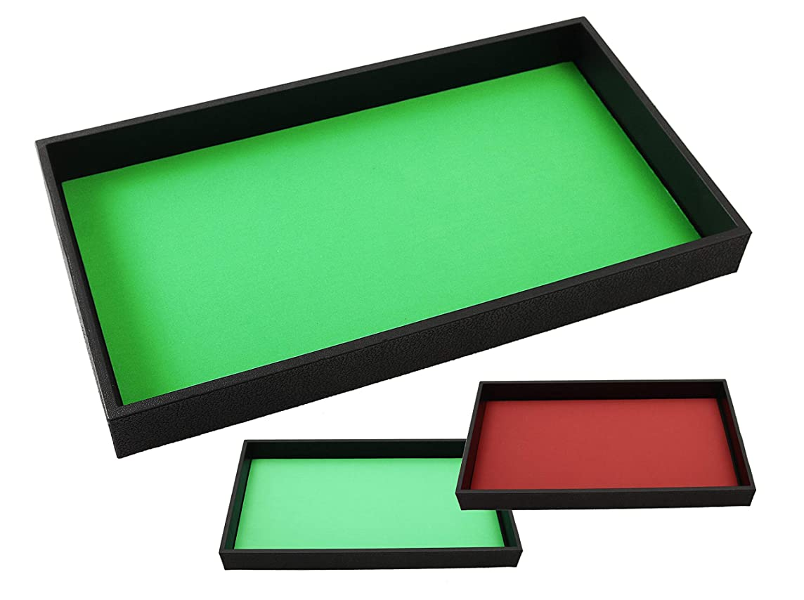 Dice Tray Two Color GREEN / RED Reversible and Removable Rolling Dice Mat for RPG and other games by Forged Dice Co.