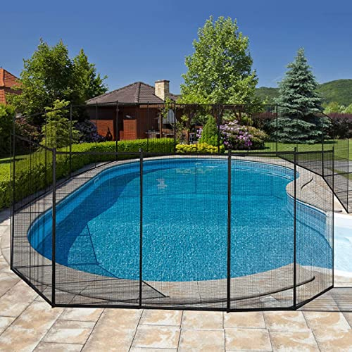 wholesale Giantex Pool Fence for In-Ground Easy DIY Installation Pool wholesale Barrier Safety Mesh Fence 4FootX12Foot wholesale Swimming Pool Fence, Black online