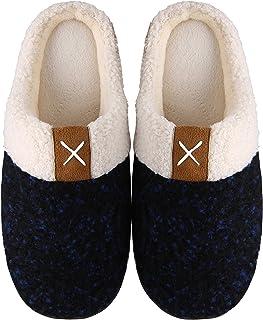 Mishansha Chaussons Femme Homme Pantoufles Hiver Automne Chaud Chaussures pour Intérieur et Extérieur, avec Doublure en Pe...