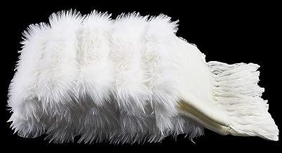 Safavieh Alexi Faux Fur Bed Runner Throw Blanket, White