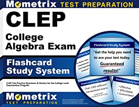 CLEP College Algebra Exam Flashcard Study System: CLEP Test Practice Questions & Review for the College Level Examination Program (Cards)