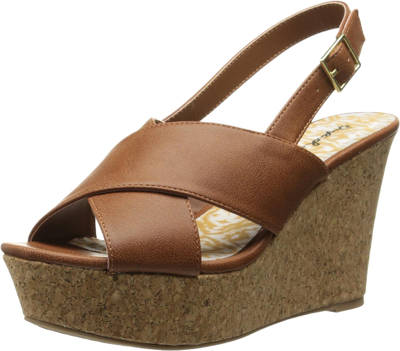 Qupid Women's Ardor-35 Wedge Sandal