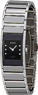 Rado Women's Silver Ceramic Black Dial Watch - R20759752