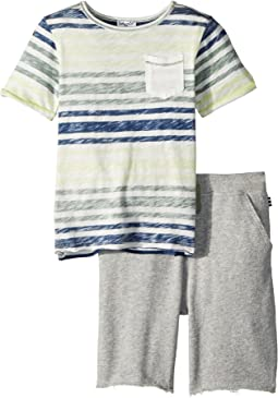 Splendid Littles Reverse Stripe Top Set (Little Kids/Big Kids)
