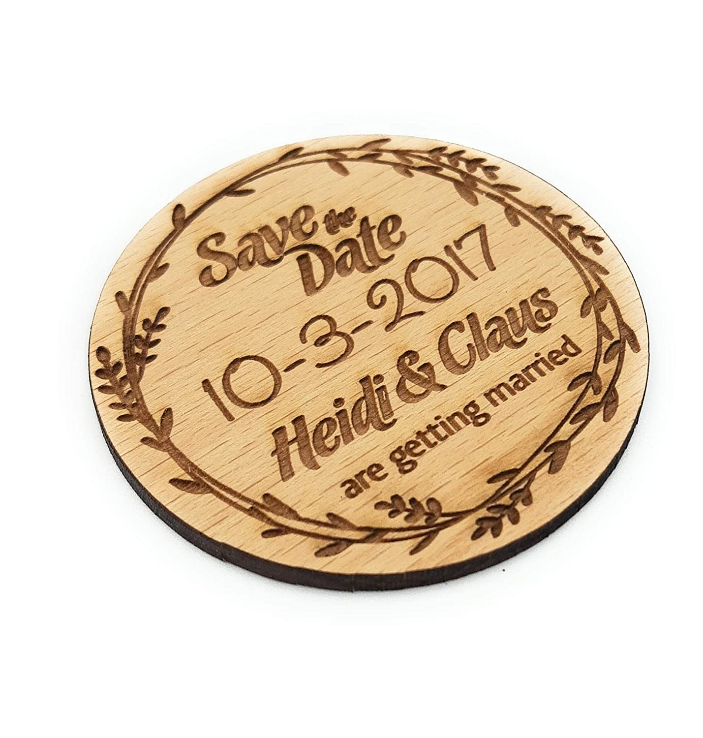 Wedding Save the Max 77% OFF Dates round Max 61% OFF magnets wooden set date save