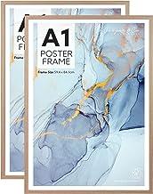 Cooper & Co. Homewares A1 Poster Photo Frames Set of 2, Oak