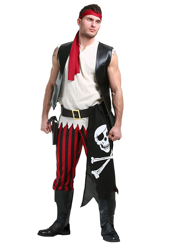 Men's Fighting Deckhand Pirate Costume Medium Medium Medium