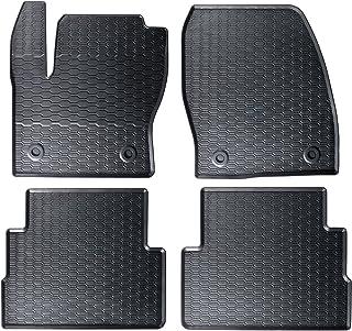 AME   Auto Gummimatten in schwarz und Wabendesign, Geruch vermindert und passgenau mit verbauten Befestigungen 870/4C