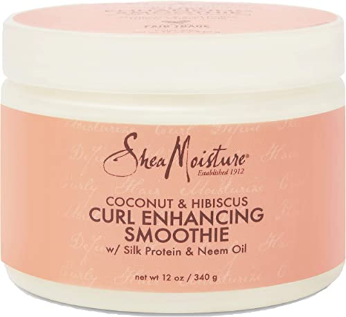 SheaMoisture Smoothie Curl Enhancing Cream for Thick, Curly Hair Coconut and Hibiscus Sulfate Free and Paraben Free 1...