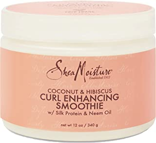 SheaMoisture Smoothie Curl Enhancing Cream for Thick, Curly Hair Coconut and Hibiscus Sulfate Free and Paraben Free 12 oz