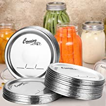 24-Count, Regular Mouth Canning Lids for Ball, Kerr Jars - Split-Type Metal Mason Jar Lids for Canning - Food Grade Material, 100% Fit & Airtight for Regular Mouth Jars - PATENT PENDING
