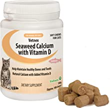 Vetnex Seaweed Calcium with Vitamin D Soft Chews for Cats 100 Chews
