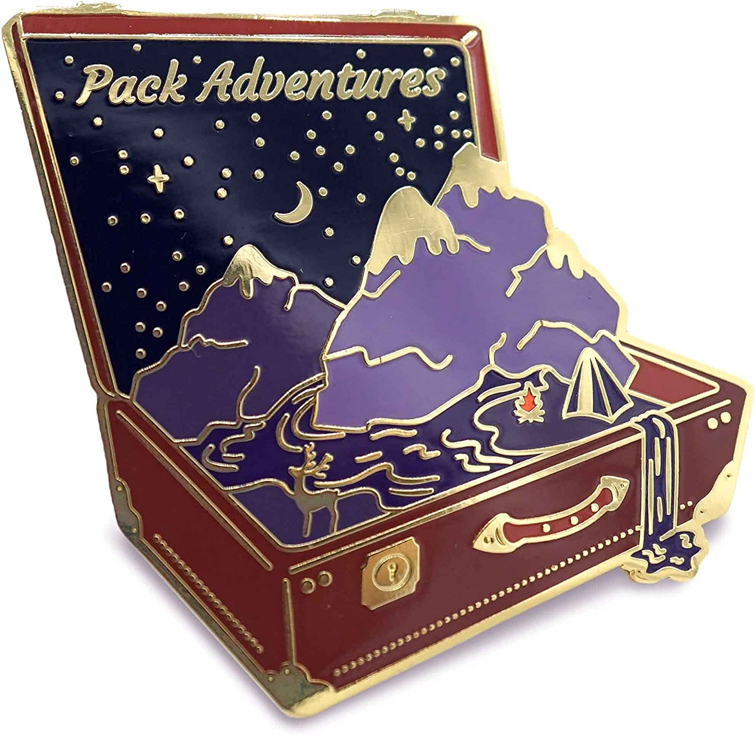 Adventure Enamel High quality new Pin of Suitcase For a hat Max 76% OFF Travelers on bag cl