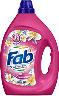 Fab Fresh Franpipani, Liquid Laundry Washing Detergent, (packaging may vary), 2 Liters (2603510)