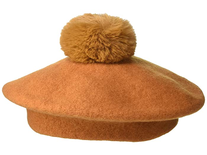 1920s Hat Styles for Women – History Beyond the Cloche Hat Madewell Pom-Pom Beret Golden Pecan Caps $42.00 AT vintagedancer.com
