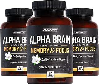 ONNIT Alpha Brain (270ct) - Over 1 Million Bottles Sold - Premium Nootropic Brain Supplement - Focus, Concentration & Memo...