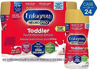 Enfagrow NeuroPro Omega 3 DHA Prebiotics Non-GMO (Formerly Toddler Next Step) Toddler Nutritional Milk Drink, Natural Milk Flavor Ready to Feed Liquid, 8 fl. oz. bottle (24 bottles)