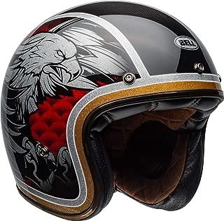 Bell Custom 500 Carbon Open-Face Motorcycle Helmet (Osprey Gloss Black, Medium)