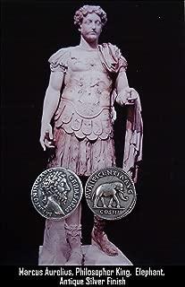 Golden Artifacts Marcus Aurelius and Elephant, Philosopher King, Roman Coins, Roman Empire (26-S)