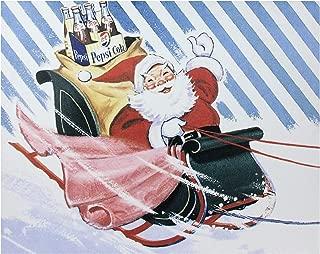Northlight LED Back Lit Santa Claus and Sleigh Pepsi Christmas Wall Art 15.75 x 19.75