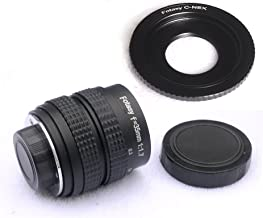 Fotasy N3517 35MM F1.7 TV Movie Lens and Adapter Kit for Sony NEX E-Mount Cameras