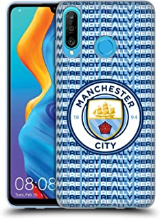 Head Case Designs Officieel Gelicentieerd Manchester City Man City FC Pattern We're Not Really Here Soft Gel Case compatib...
