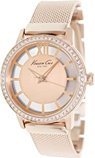 Kenneth Cole New York Women's Quartz Stainless Steel Case Stainless Steel Bracelet Rose Gold,(Model:KC4955)
